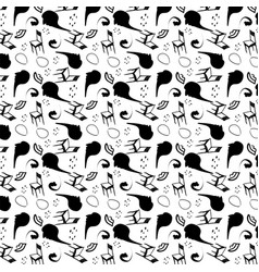 surrealism stylized seamless pattern vector image vector image