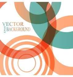 Abstract shapes background colorful bubbles vector image vector image