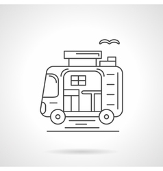 Camping car thin line icon vector image