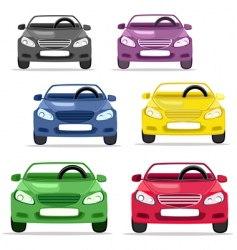 car convertible in different colors vector image vector image