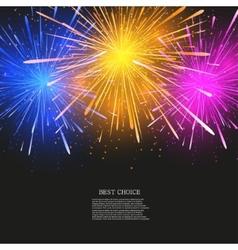creative fireworks modern background vector image