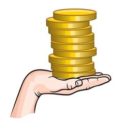 Earning money1 vector image vector image