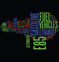 ethanol and e fuels of the future text background vector image vector image