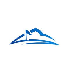 golf mountain business logo vector image