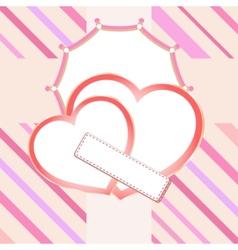 love heart in bridal vector image vector image