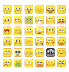 square smileys vector image