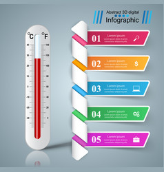 thermometer business infographics health icon vector image vector image