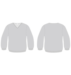 vneck sweater template vector image