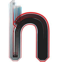 Abstract font letter h vector