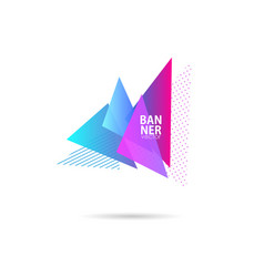 abstract graphic triangle shape template banners vector image