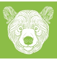 Animal teddy Bear head print for adult anti stress vector image