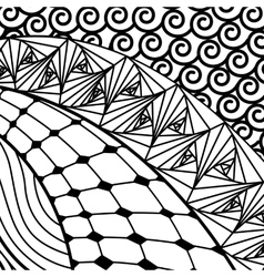 Artistically ethnic pattern vector image