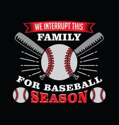 baseball saying and quote vector image