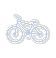 bicycle contour in light blue with shadow vector image