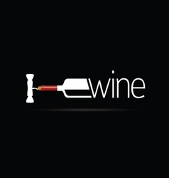bottle of wine icon silhouette vector image
