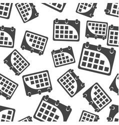 calendar seamless pattern background icon flat vector image