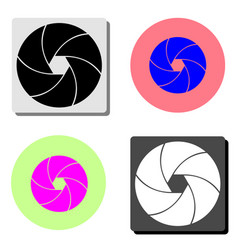 camera shutter flat icon vector image
