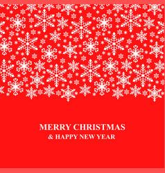 Christmas congratulatory card with snowflakes vector