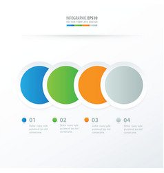 circle overlap infographic blue green orange vector image