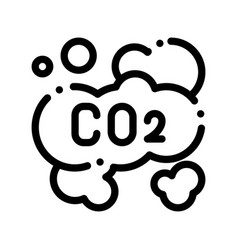 Co2 smoulder smoke steam air thin line icon vector