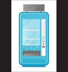 Cold drink vending machine icon vector