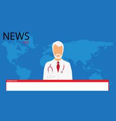 coronavirus breaking news headline reporting on vector image