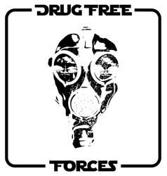 Drug free forces straight edge design vector