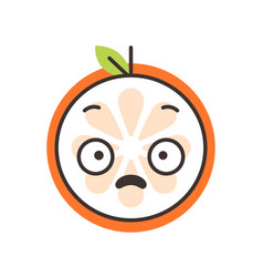 emoji - shock orange smile isolated vector image