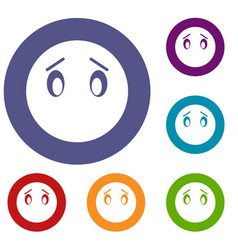 emoticon icons set vector image