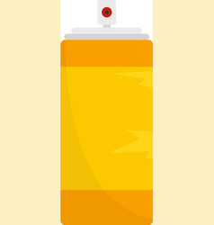 Empty tin can icon flat isolated vector