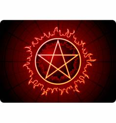 fire pentagram vector image