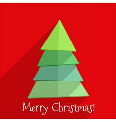 Flat Christmas Tree Design vector image