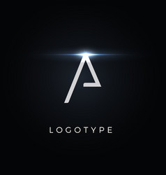 Futurism style letter a minimalist type vector