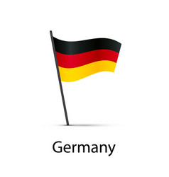 germany flag on pole infographic element on white vector image