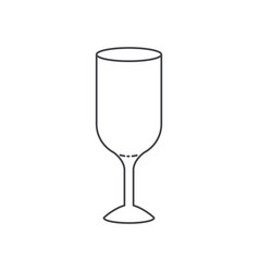 glass wine flat monochrome silhouette vector image