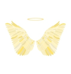 Golden wing vector image