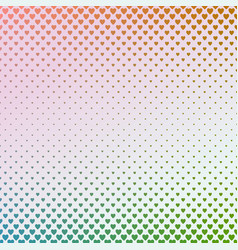 Gradient abstract heart pattern background - love vector
