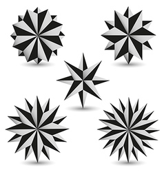 Graphics star set vector