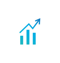 growth diagram witharrow going up icon isolated vector image