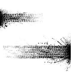 Grunge tire tracks vector