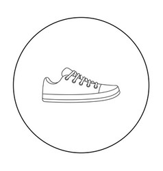 Gumshoes icon in outline style isolated on white vector