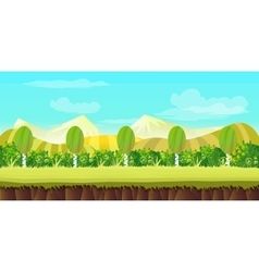 Hills game background vector