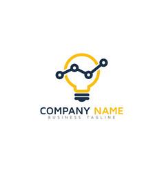 Idea report logo icon design vector