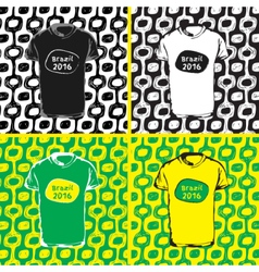 Ipanema beach pattern set of t-shirts vector