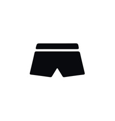 isolated shorts icon swimming trunks vector image