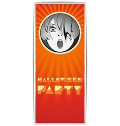 Just Halloween party poster vector image