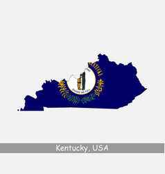 kentucky usa map flag vector image