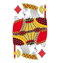 King of diamonds no card vector image