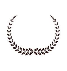 laurel decoration ornament sport symbol vector image