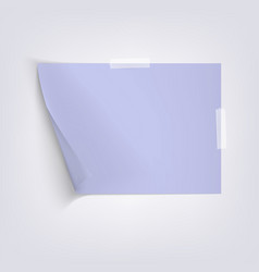 light blue sheet paper on gray background vector image